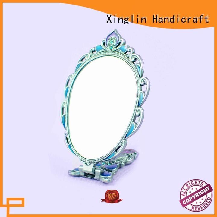 Ancient peacock folding mirror