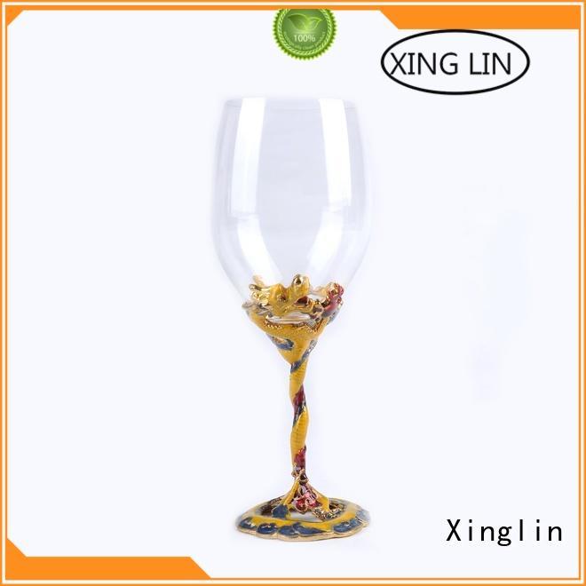 light christmas wine glasses maker for present