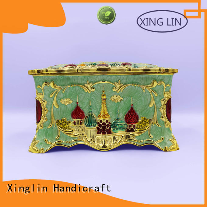 gold tissue box high quality for home Xinglin