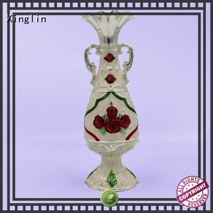 Vintage metal decorative flower vase