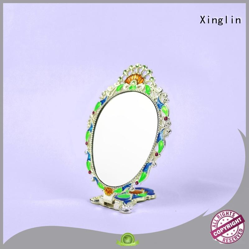 Xinglin silver vintage style hand mirror manufacturer for wedding